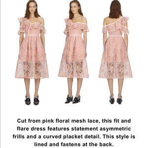 NWT Self portrait blush lace dress US10